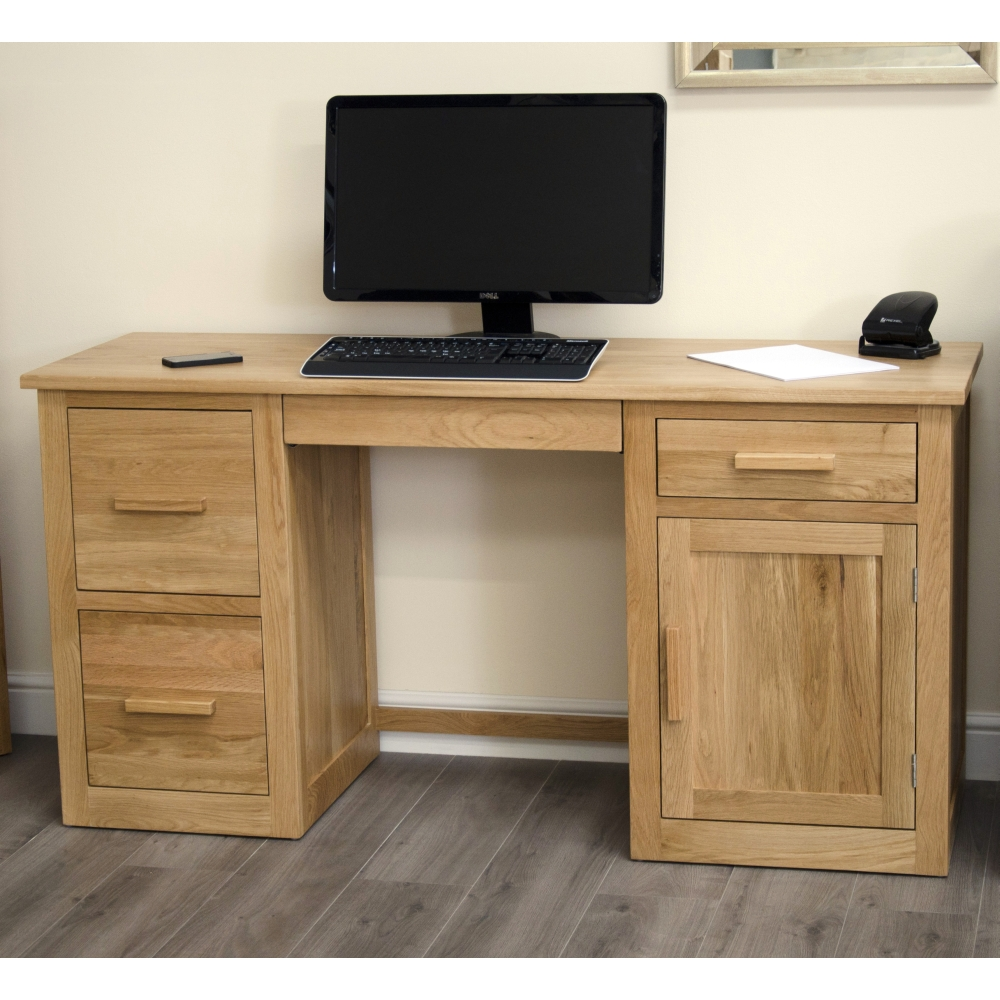 Computer desk large home office workstation arden solid for Home office workstation desk