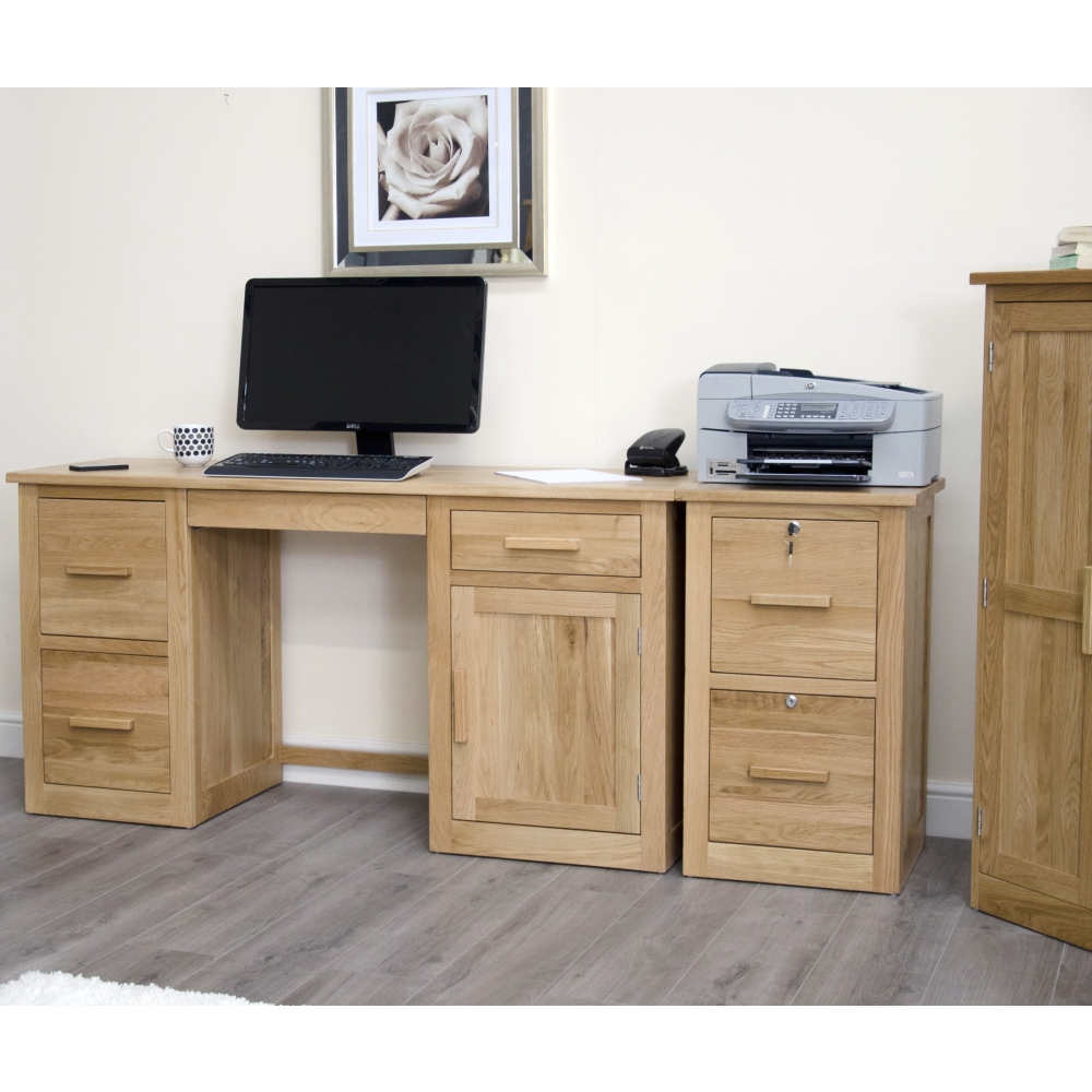 Arden filing cabinet home office secure lockable solid oak