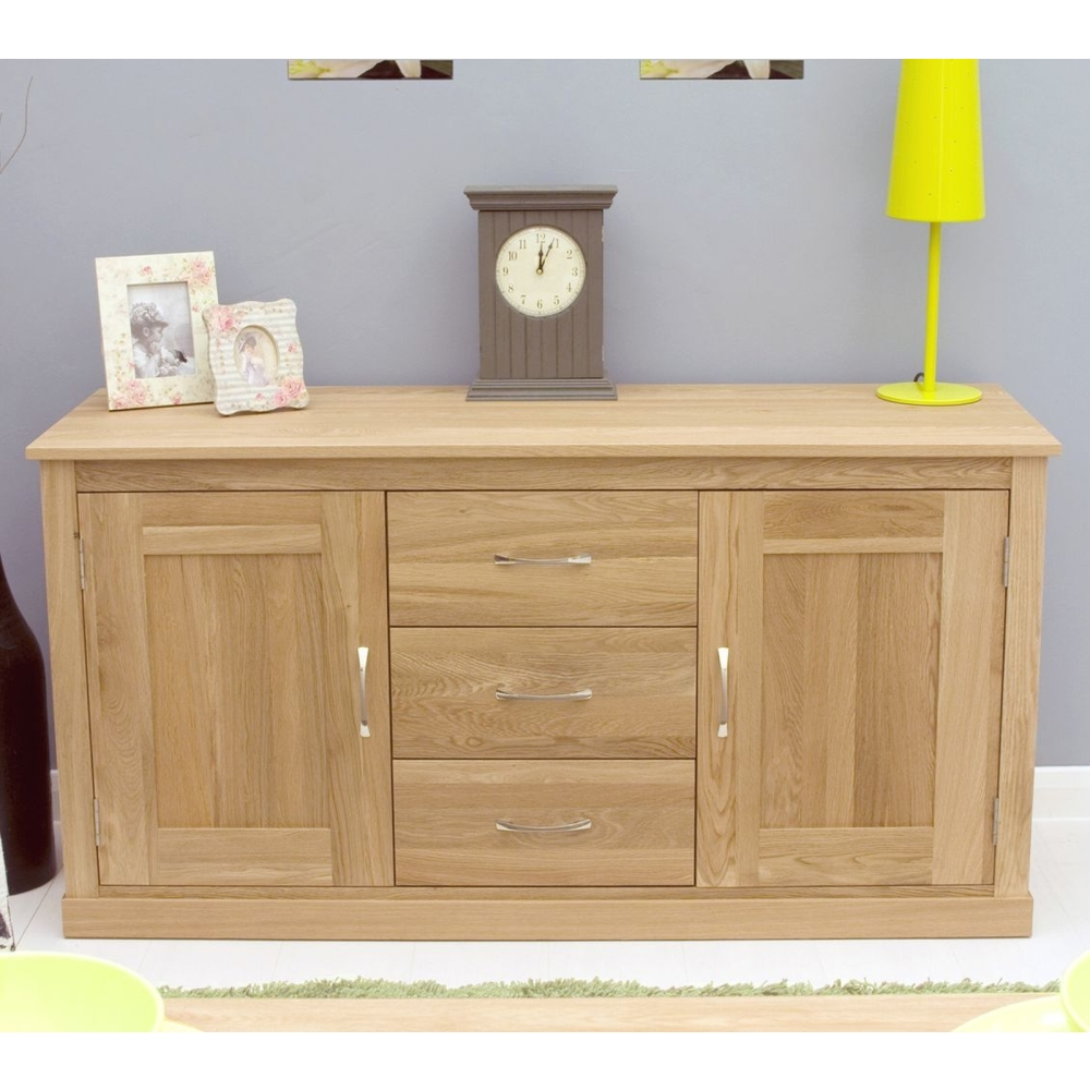 mobel sideboard large storage solid oak dining room furniture ebay