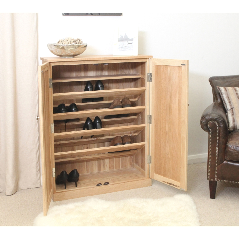 Mobel Solid Oak Furniture Shoe Storage Hallway Bench: Mobel Shoe Cupboard Rack Large Storage Cabinet Solid Oak