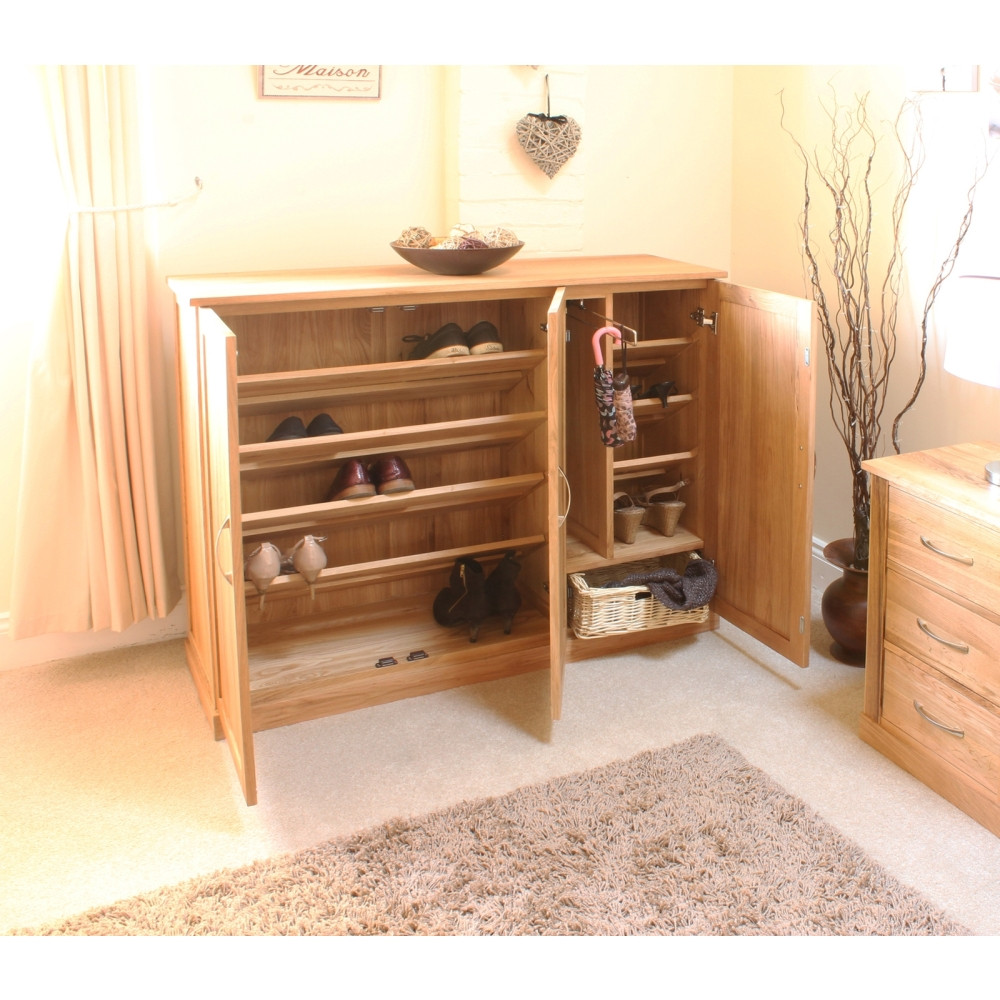 Mobel Solid Oak Furniture Shoe Storage Hallway Bench: Mobel Shoe Cupboard Rack Extra Large Storage Cabinet Solid