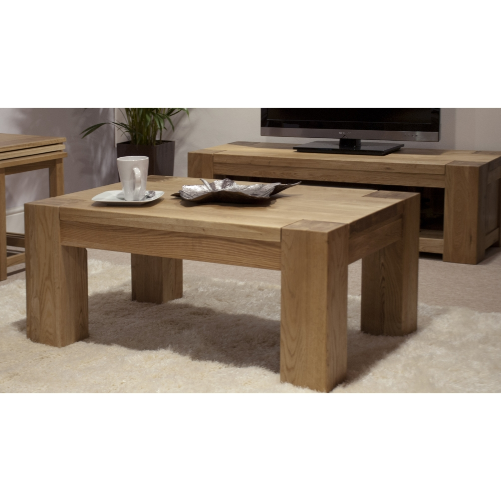 Michigan Coffee Table Large Solid Oak Living Room Furniture Ebay