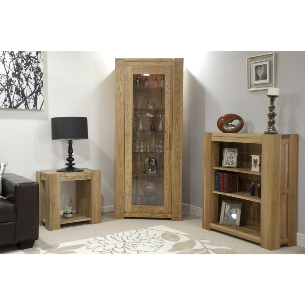 Michigan Hi Fi Storage Cabinet Unit Solid Oak Living Room