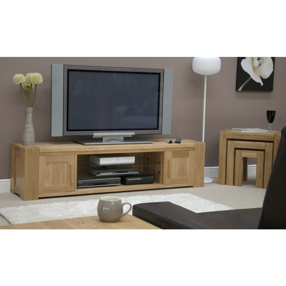 michigan television cabinet large widescreen stand unit solid oak furniture ebay. Black Bedroom Furniture Sets. Home Design Ideas