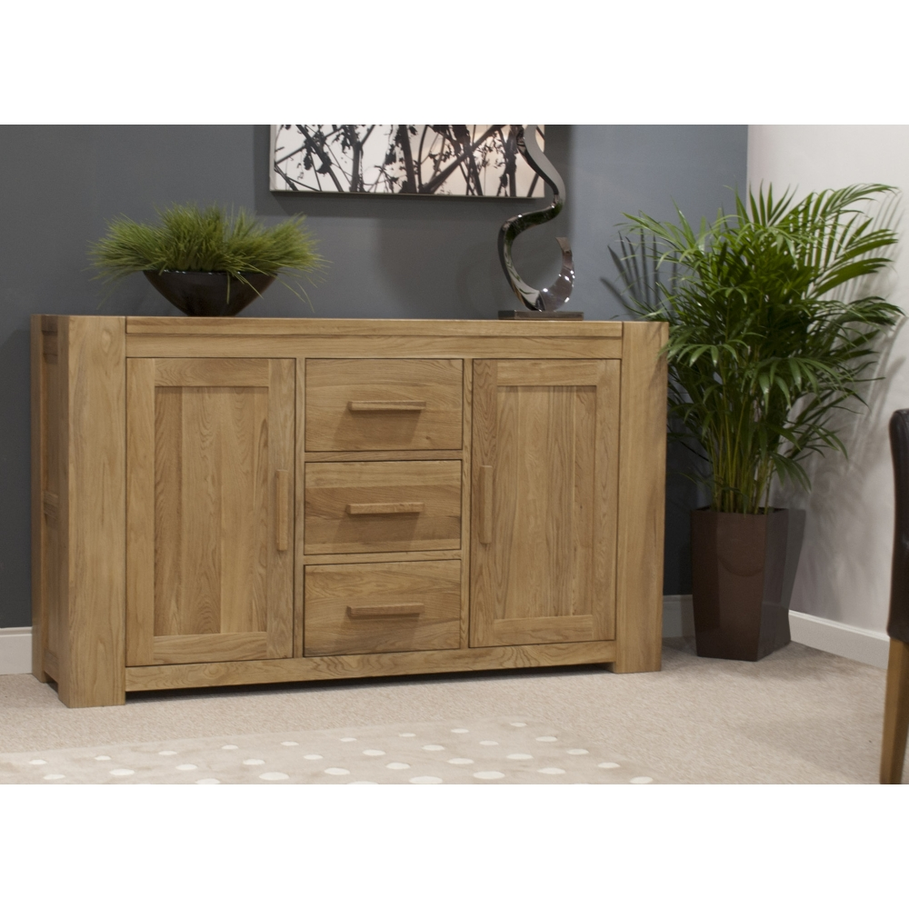 Michigan Large Sideboard Solid Oak Living Dining Room Furniture EBay