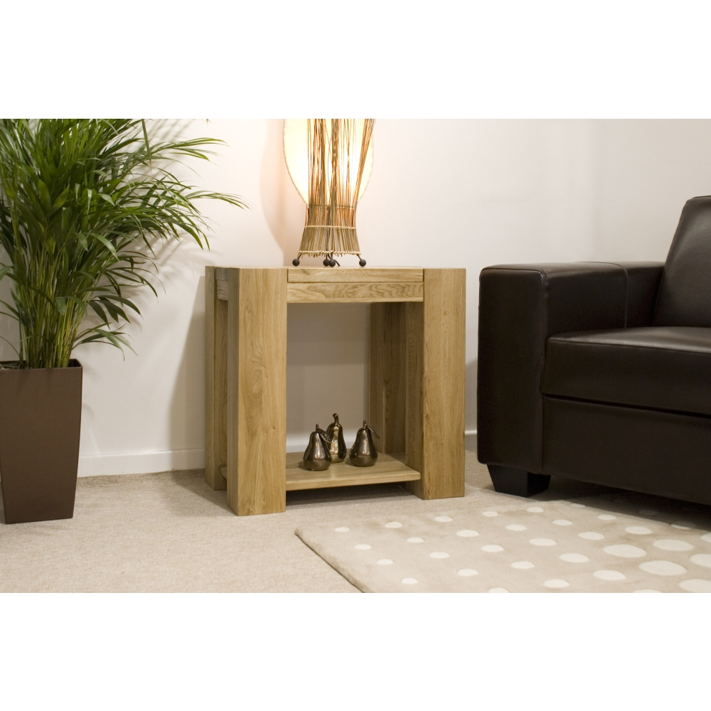 Michigan lamp side end table solid oak living room - Living room ideas with oak furniture ...
