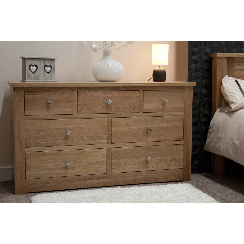 Ohio chest of drawers large solid oak bedroom furniture ebay for Bedroom furniture chest of drawers