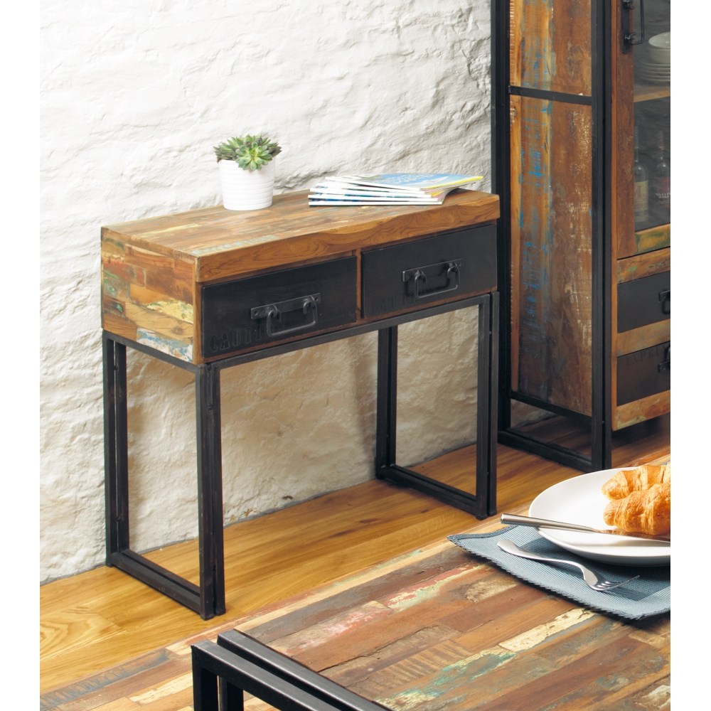 Urban Chic Console Hallway Hall Living Room Table Solid Reclaimed Wood Furniture Ebay