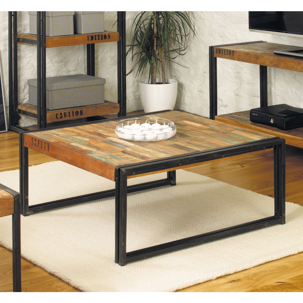 Urban Chic Square Living Room Coffee Table Solid Reclaimed