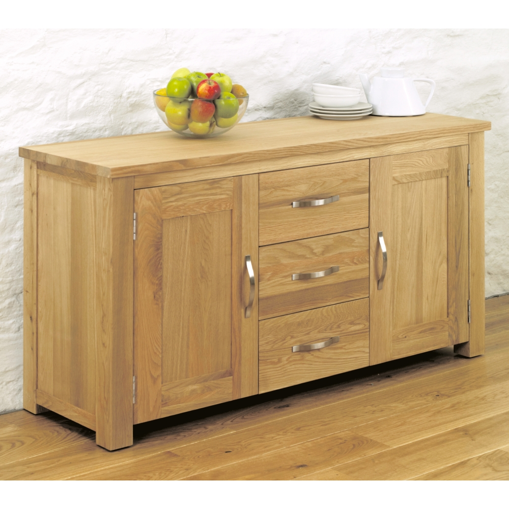 Aston Large Sideboard Living Dining Room Storage Oak Furniture Ebay