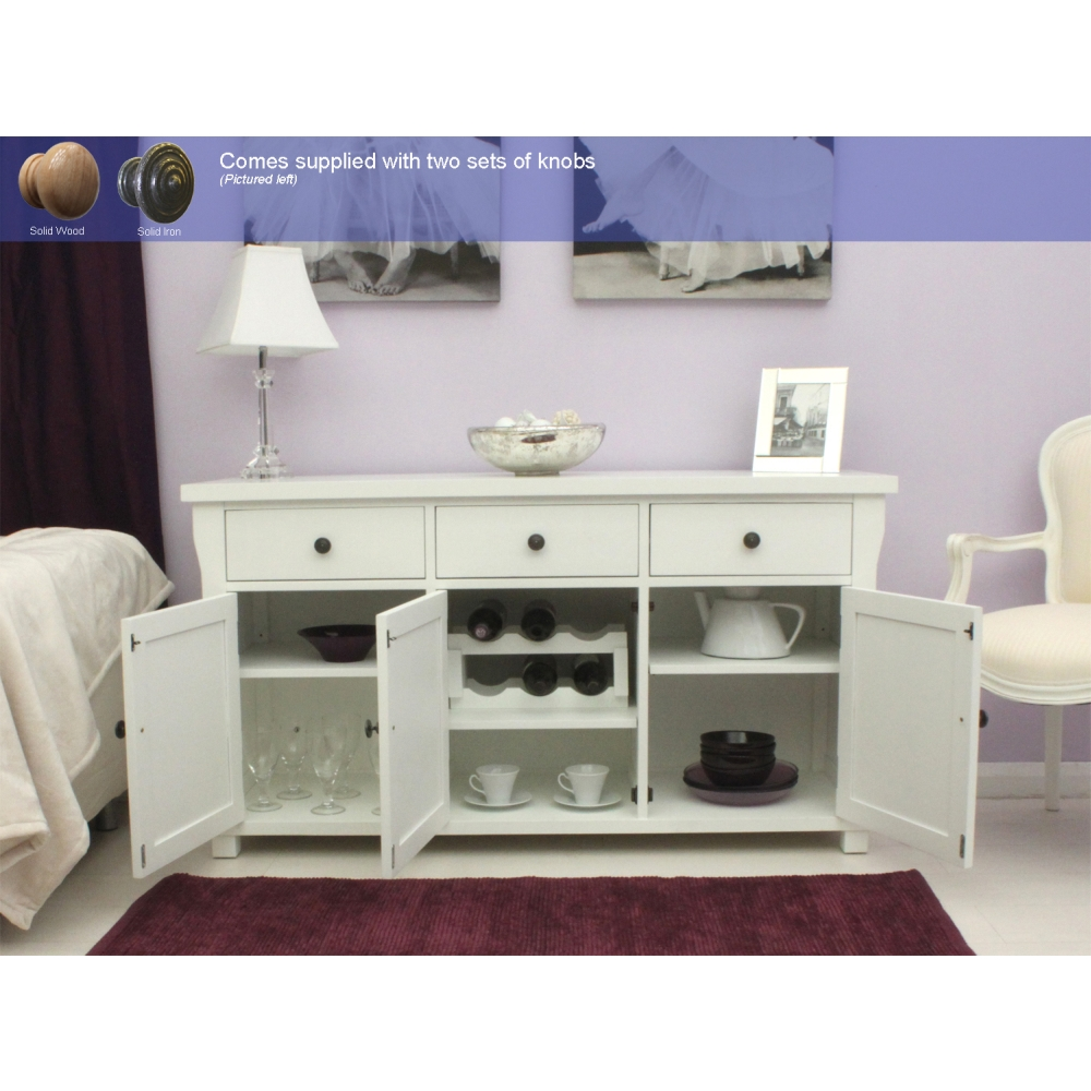 living dining room sideboard solid ash white painted furniture ebay