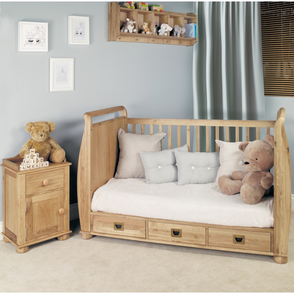amelie oak baby cot cotbed childrens bedroom furniture