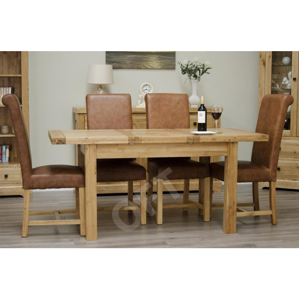 Montero Butterfly Extending Dining Table Solid Oak Dining Room Furniture