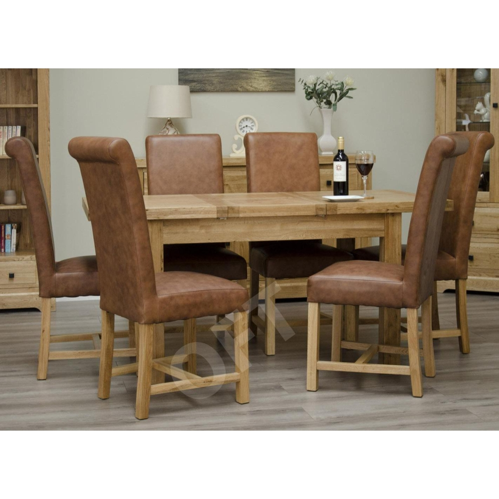 Solid Oak Dining Room Furniture ~ Montero butterfly extending dining table solid oak
