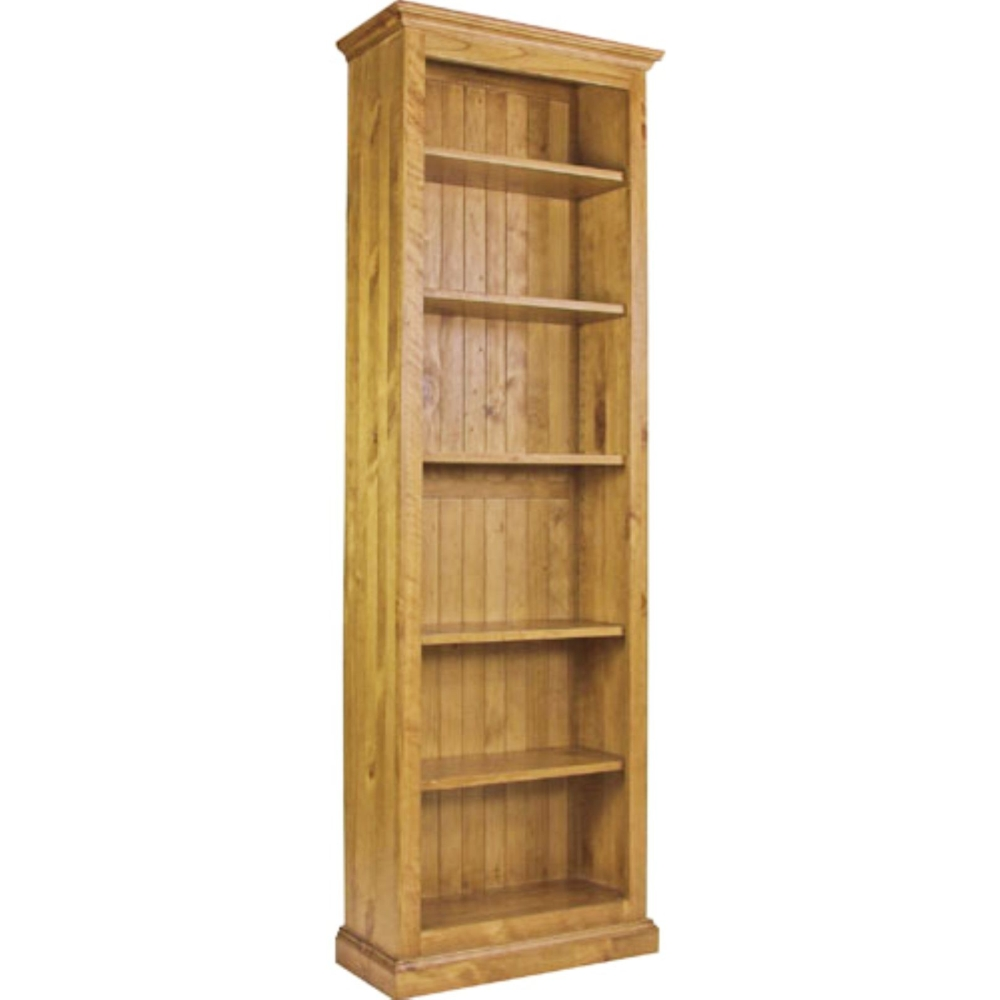 Farrah 6 Shelf Tall Narrow Bookcase Solid Pine Living Room