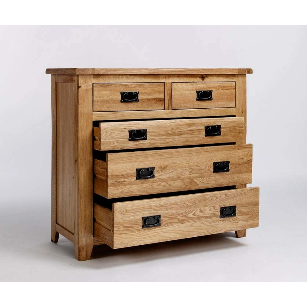 Westbury Solid Oak Bedroom Furniture 2 Over 3 Chest Of Drawers