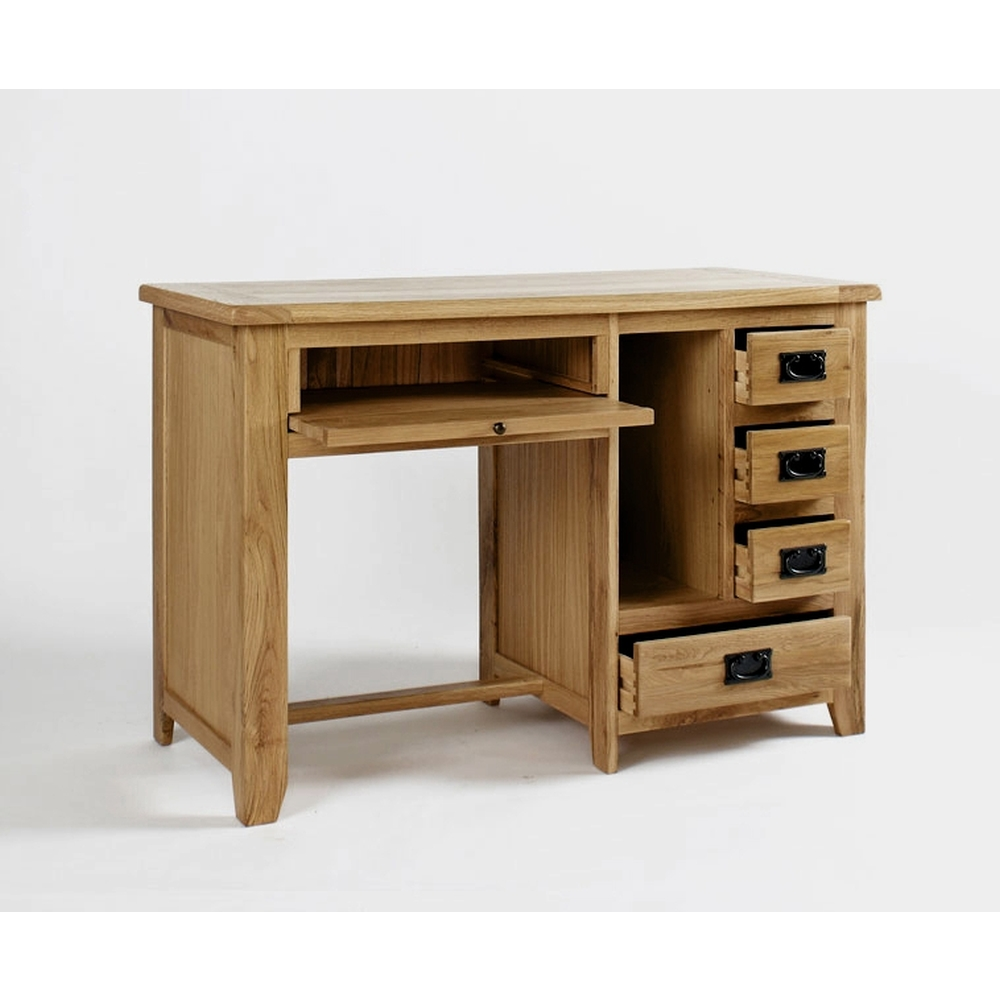 Westbury Solid Oak Furniture Small Office Pc Computer Desk Ebay