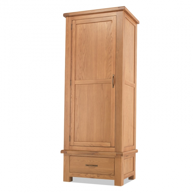 about amersham solid oak bedroom furniture single wardrobe with drawer