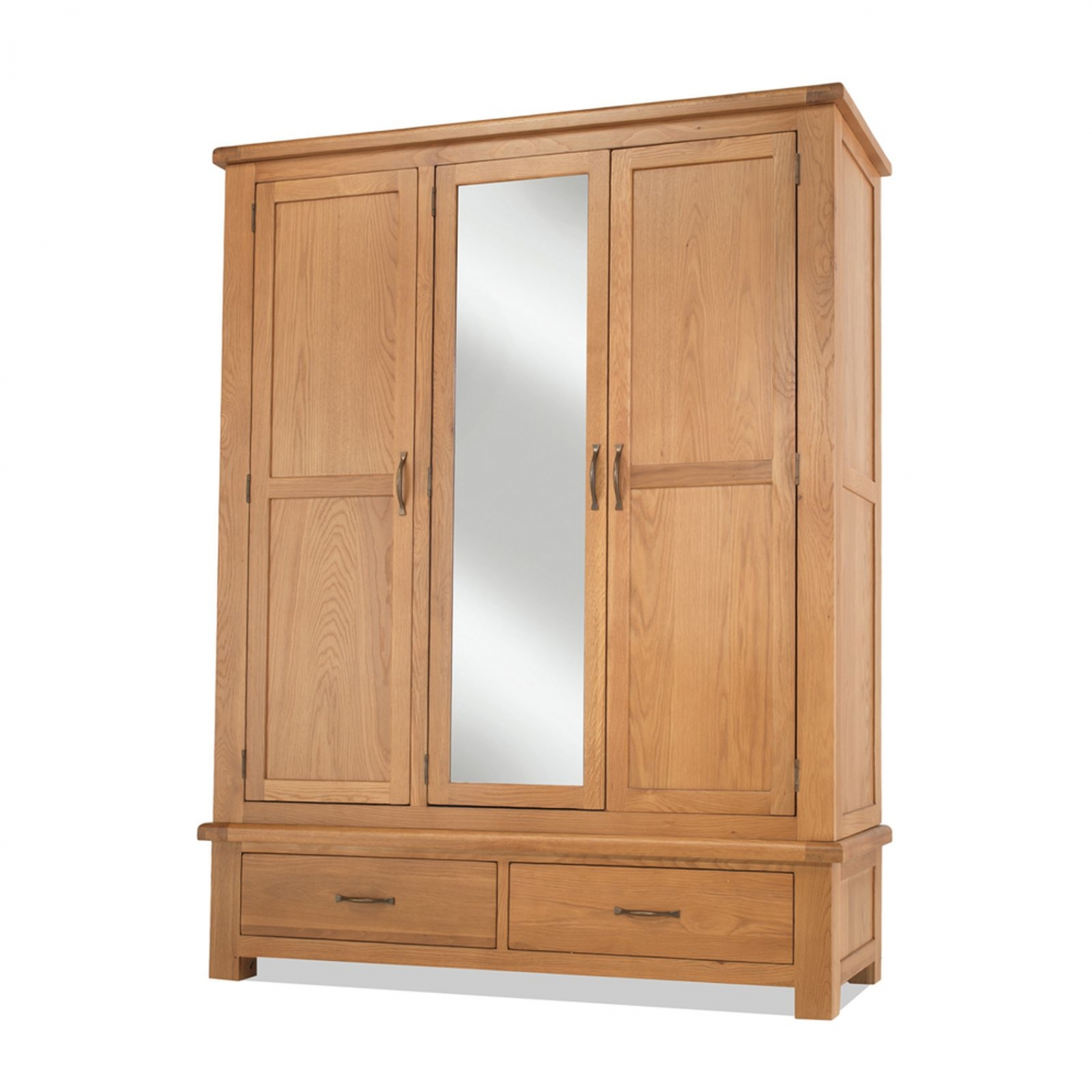 tuscany solid oak bedroom furniture triple wardrobe with