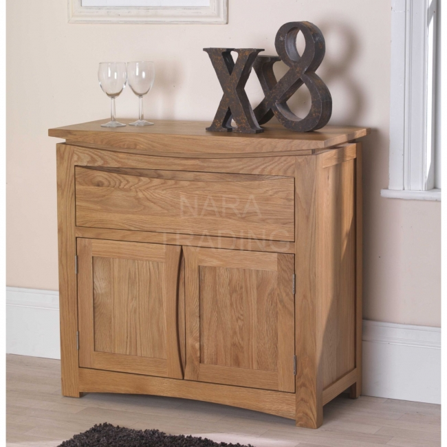 Crescent Solid Oak Dining Room Furniture Small Storage