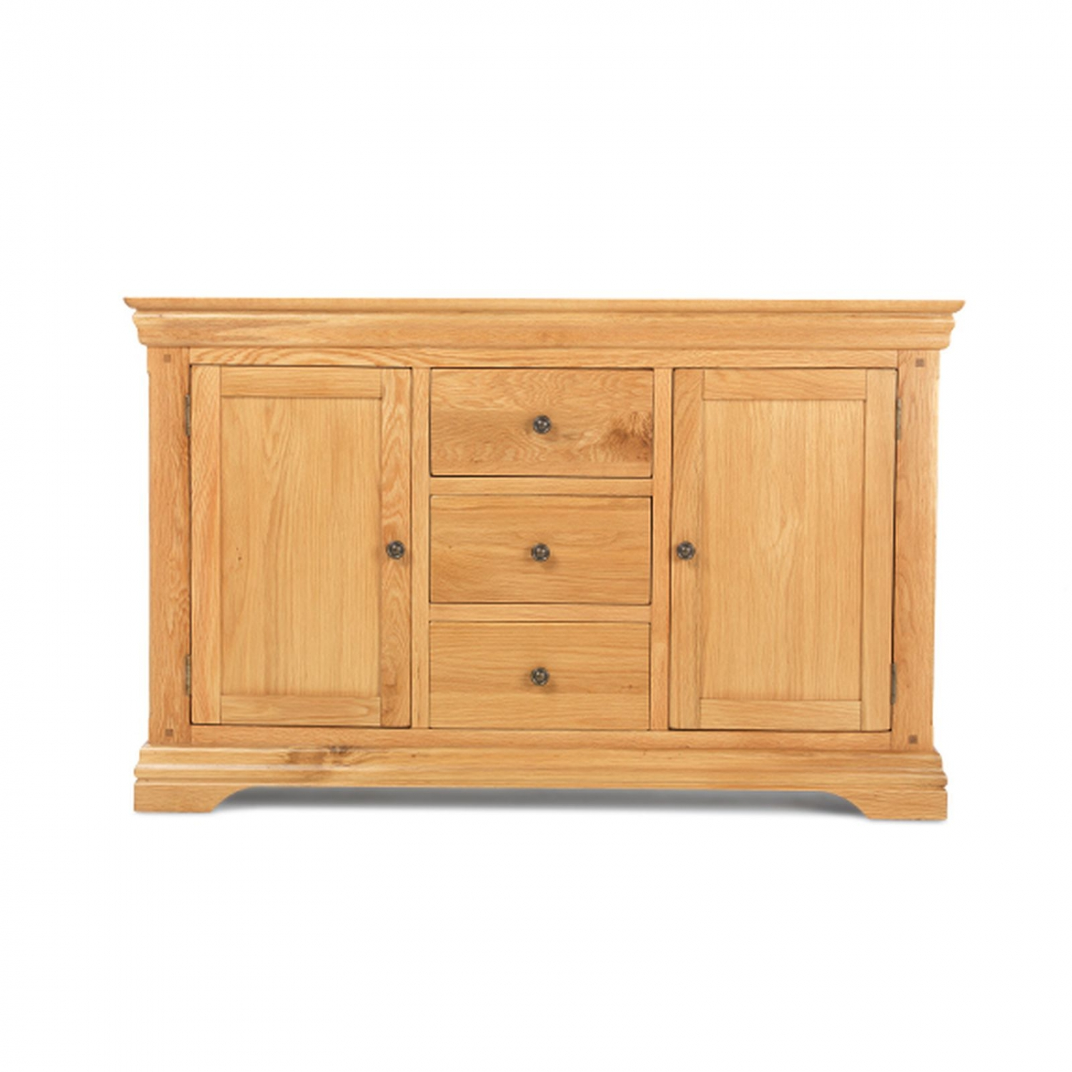 Bordeaux solid oak furniture large two door three drawer for Solid oak furniture