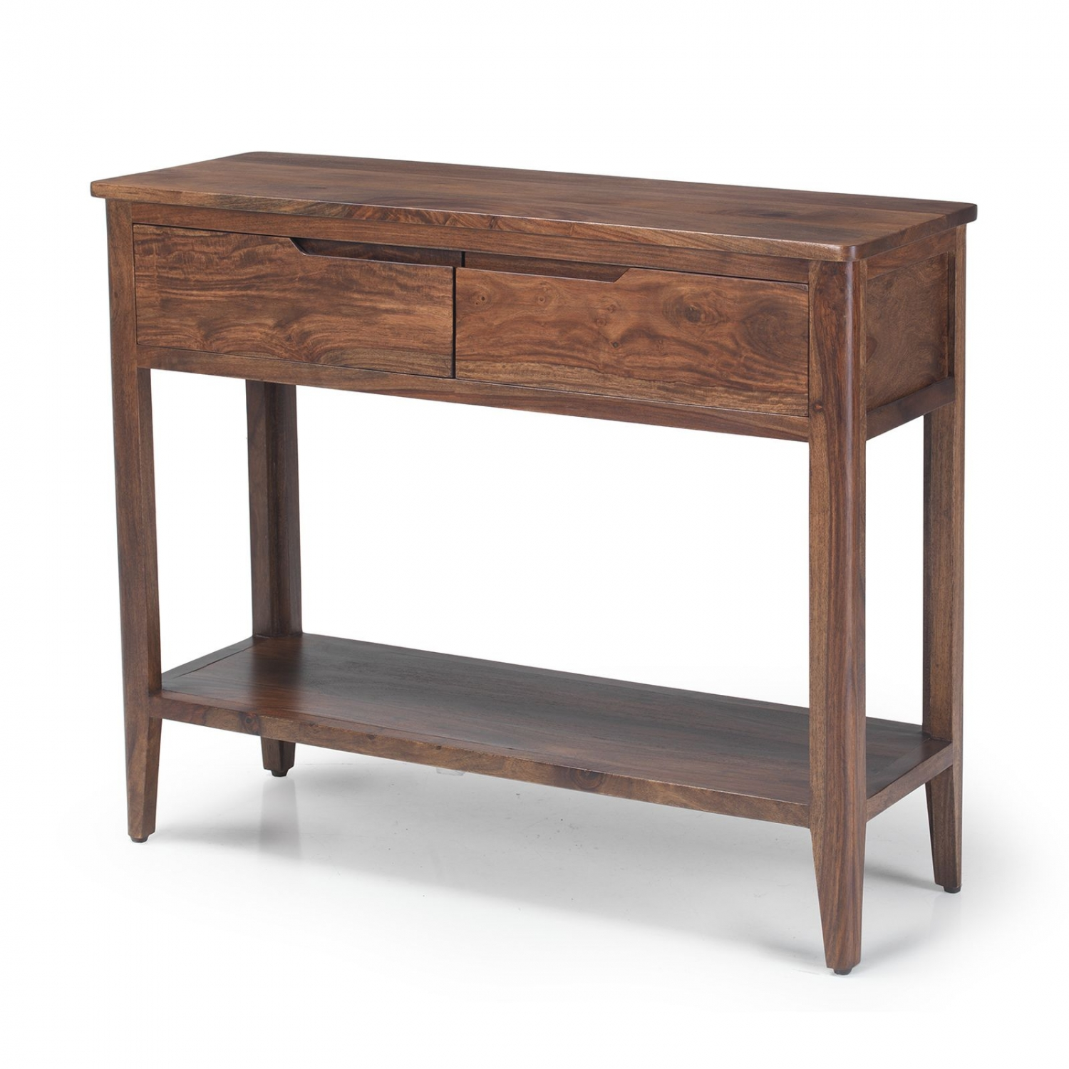 Walnut Wood Furniture ~ Padstow walnut dark wood furniture console hall table with