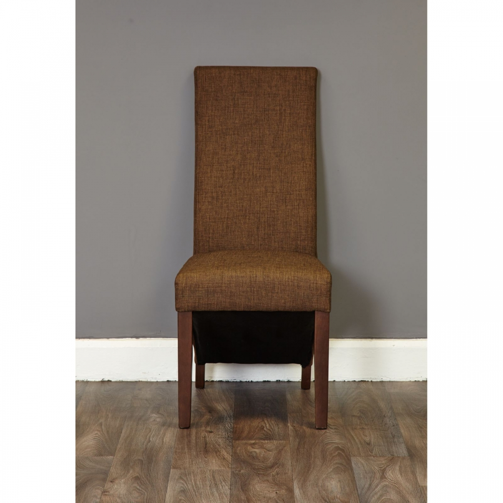 Inca Solid Dark Wood Furniture Set Of Eight Upholstered