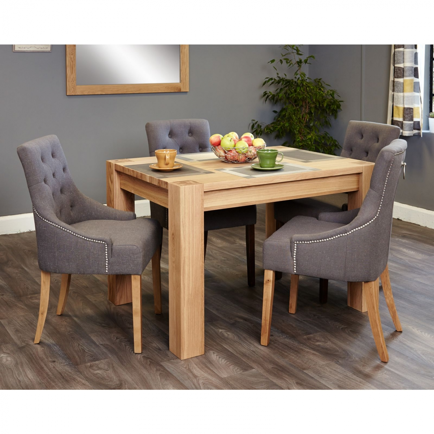 Salisbury Oak Furniture Small Dining Table And Four Luxury