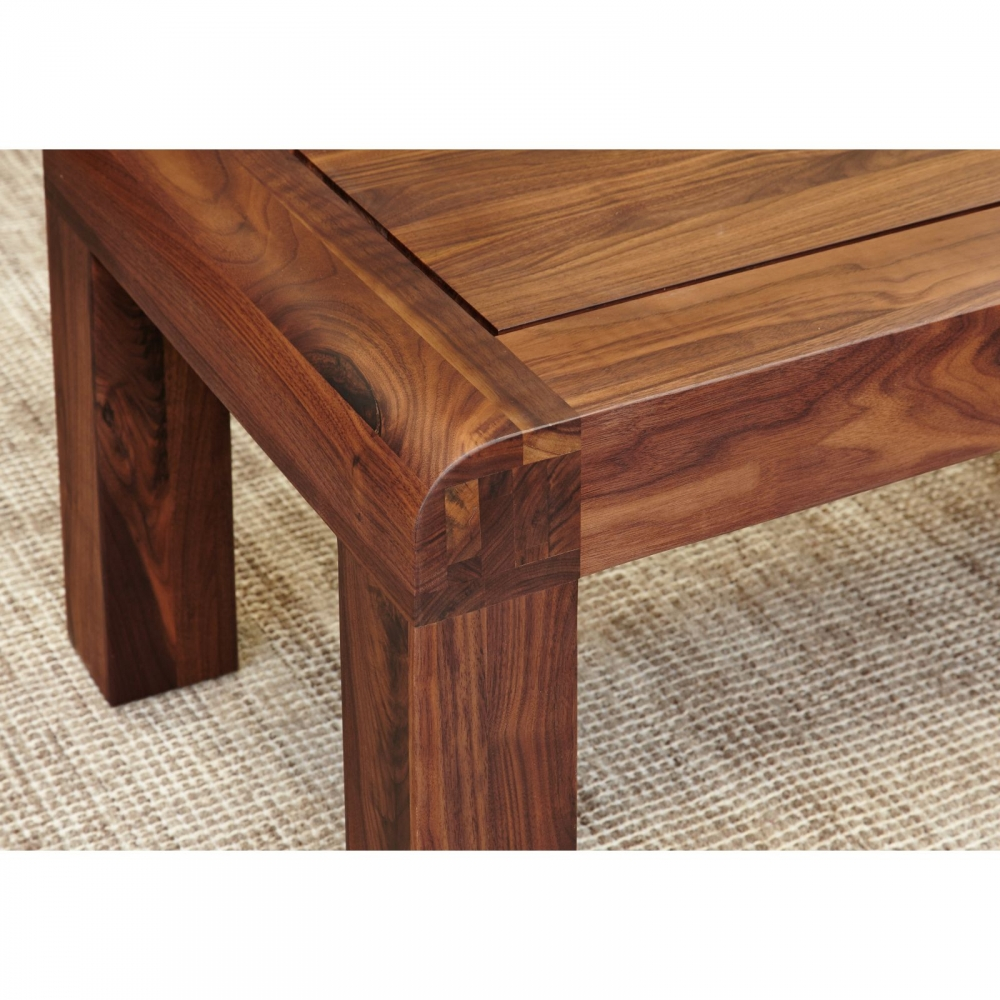 Inca solid walnut dark wood furniture nest of three coffee
