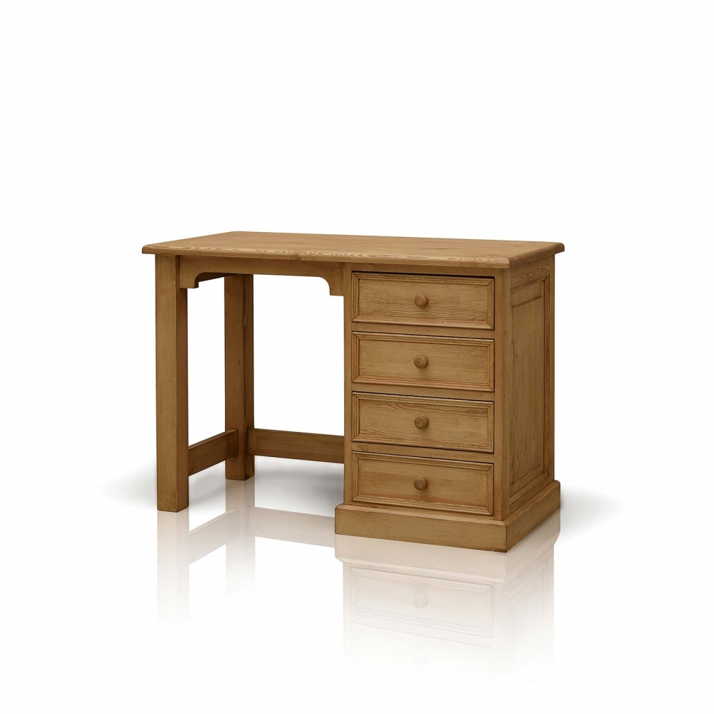 Galway waxed pine furniture small pc office computer desk for Pine furniture