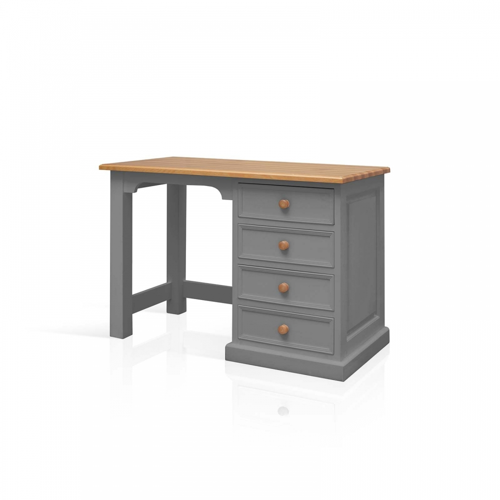 Small Pine Computer Desk Mottisfont Solid Waxed Pine