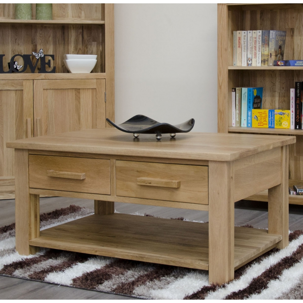Arden Solid Oak Living Room Furniture Storage Drawers Coffee Table Ebay
