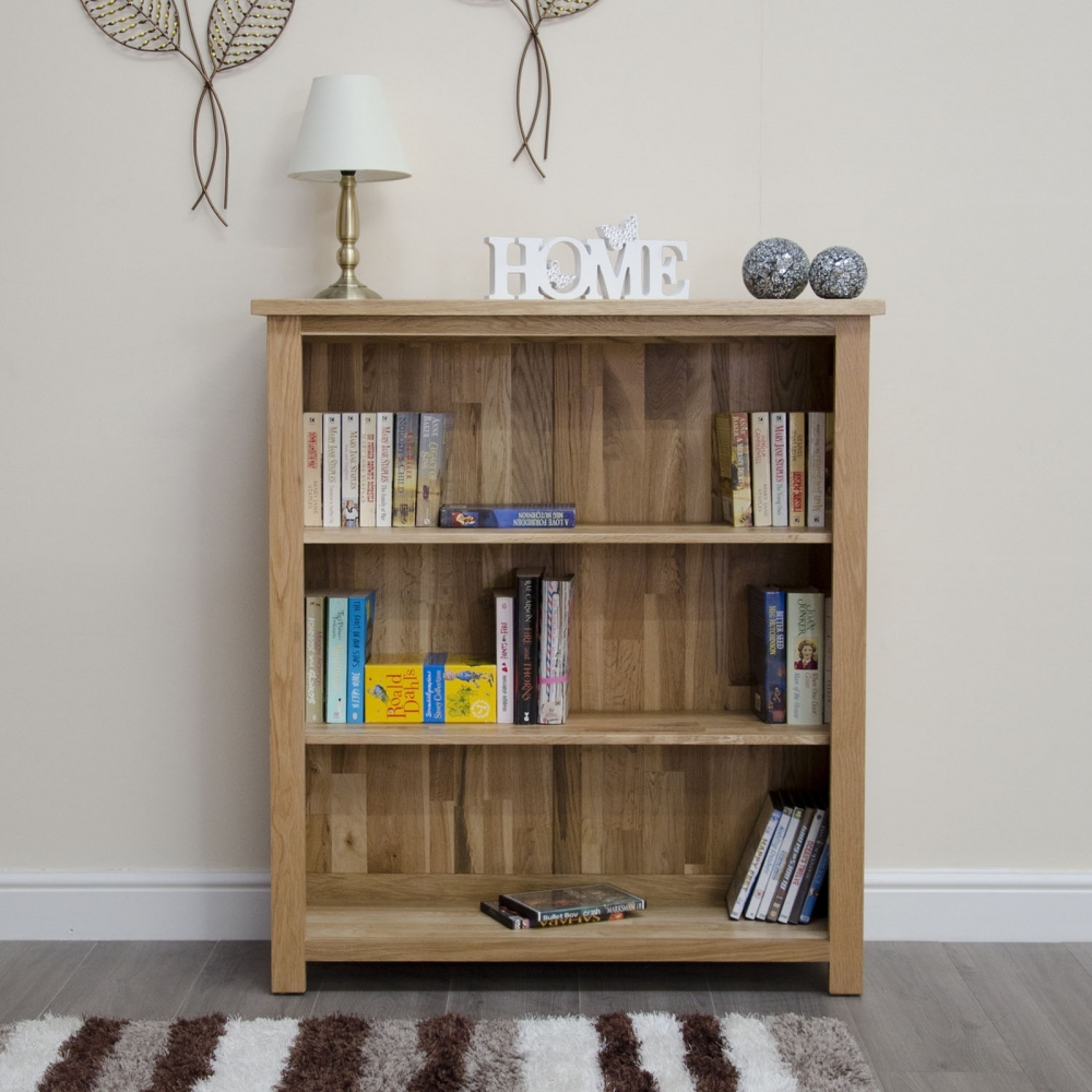 Arden Solid Modern Oak Furniture Small Office Living Room Bookcase EBay