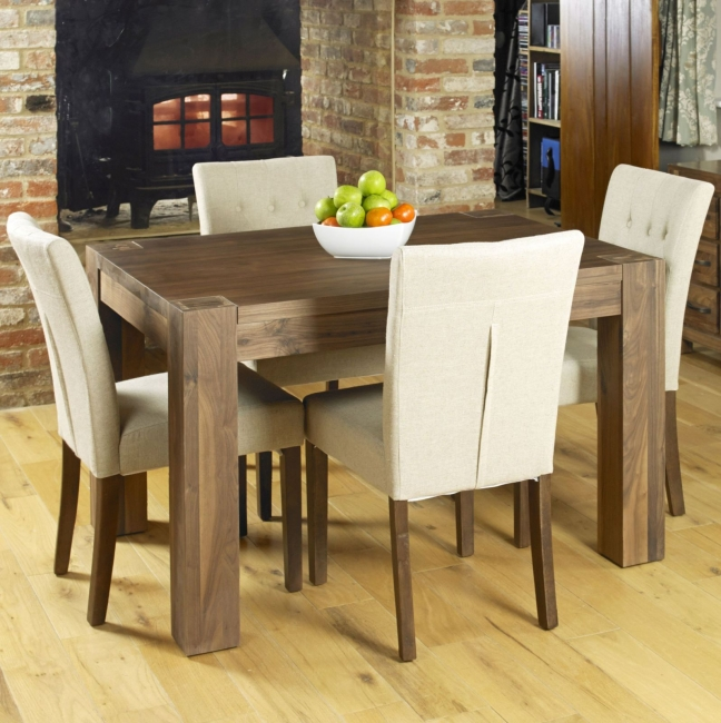 Sierra solid walnut dark furniture small dining table and  : 86361 from www.ebay.co.uk size 648 x 650 jpeg 297kB