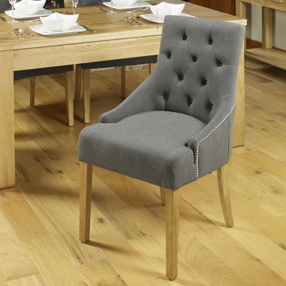 Oak Dining Room Chairs ~ Mobel solid oak furniture set of two flare back luxury