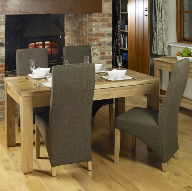 Nara Solid Oak Dining Room Furniture Dining Table And Four