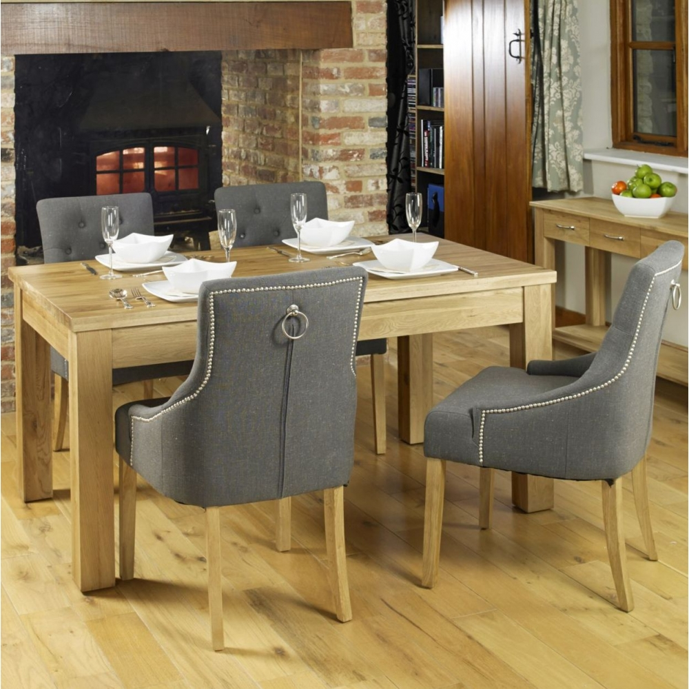 Mobel solid oak furniture dining table and four luxury - Furnitive mobel ...