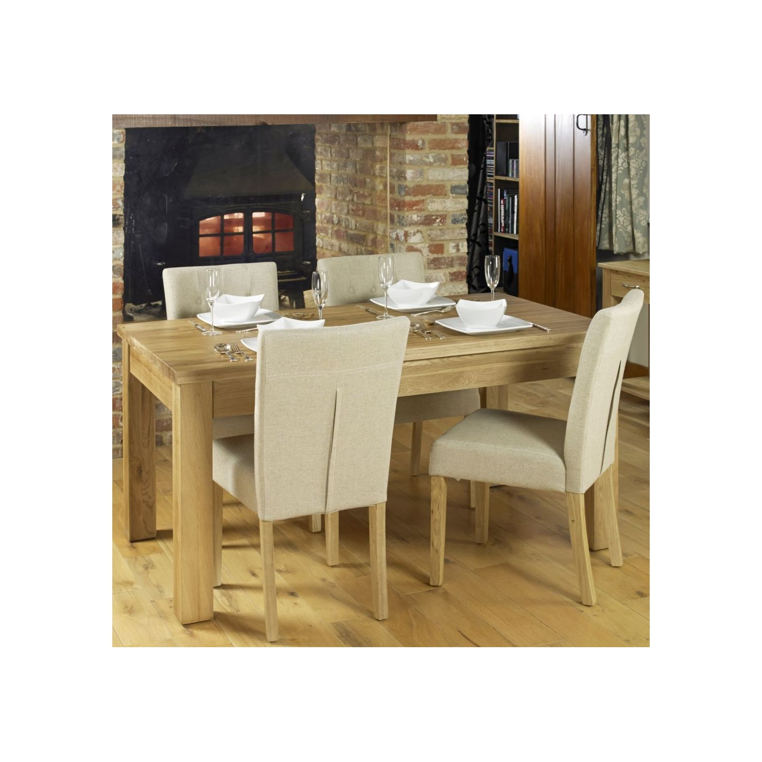 Conran Solid Oak Furniture Large Extending Dining Table