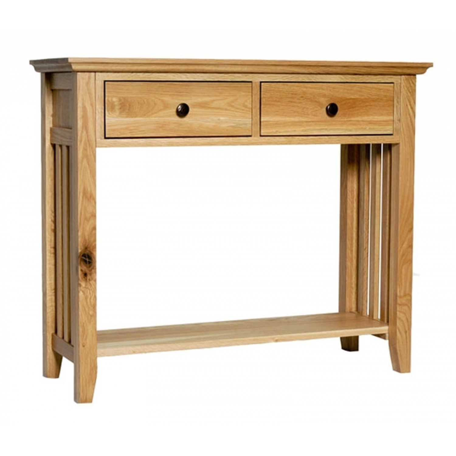Belfry solid oak furniture hallway console hall table with for Living hall furniture