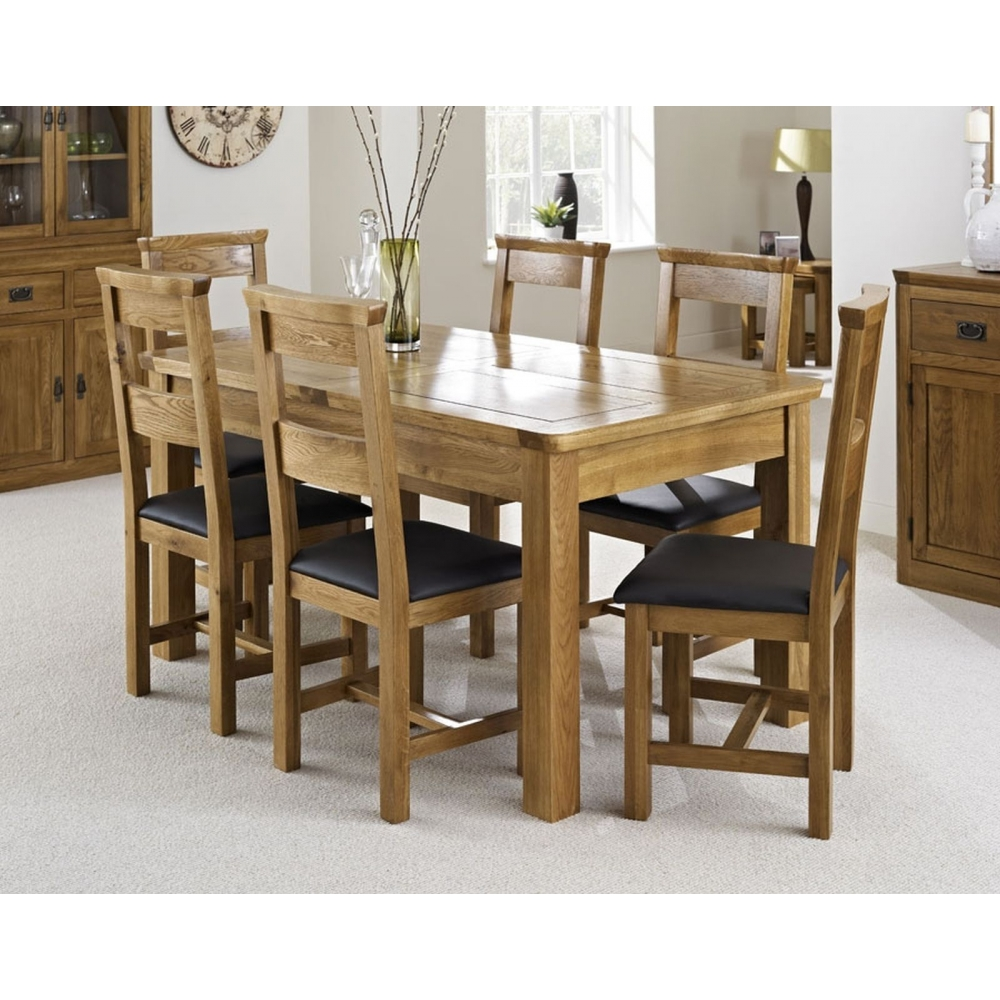 oak bedroom furniture extending dining table and six chairs set ebay
