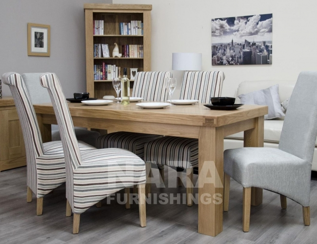 houston solid oak dining room furniture large 180cm dining