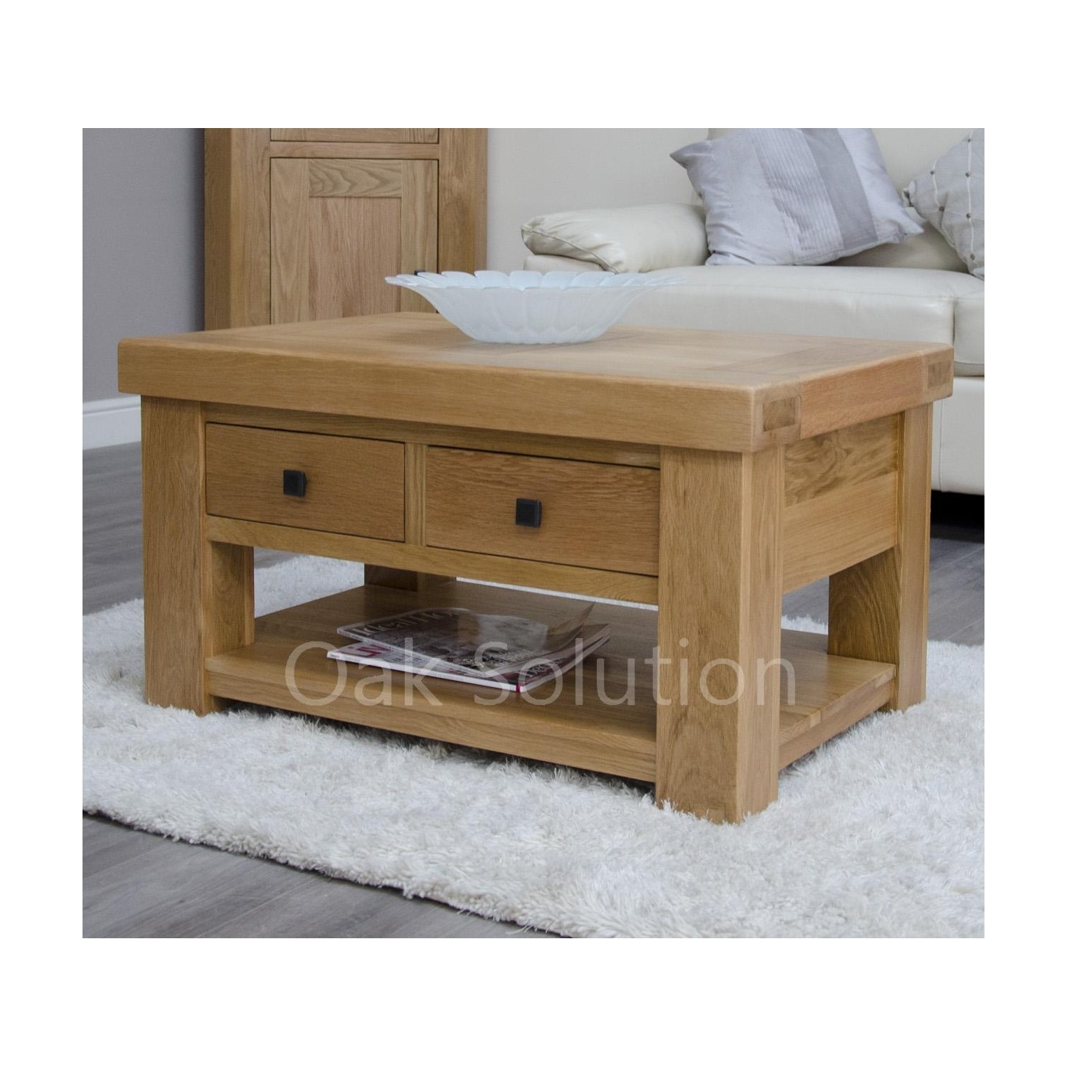 Belgrave Solid Oak Furniture Storage Coffee Table With Drawers Ebay