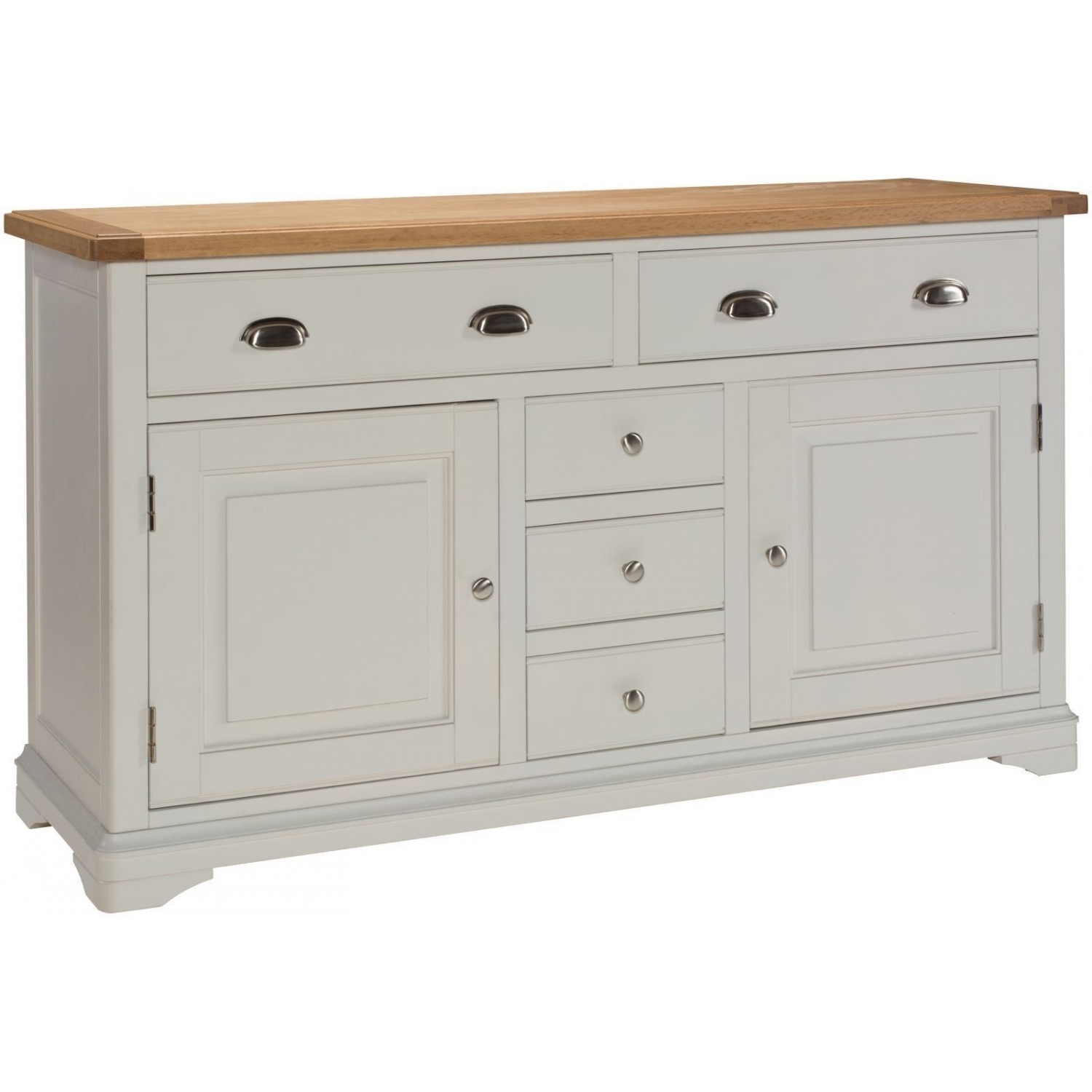 Dillon oak grey painted furniture large living dining room for Painted buffet sideboard