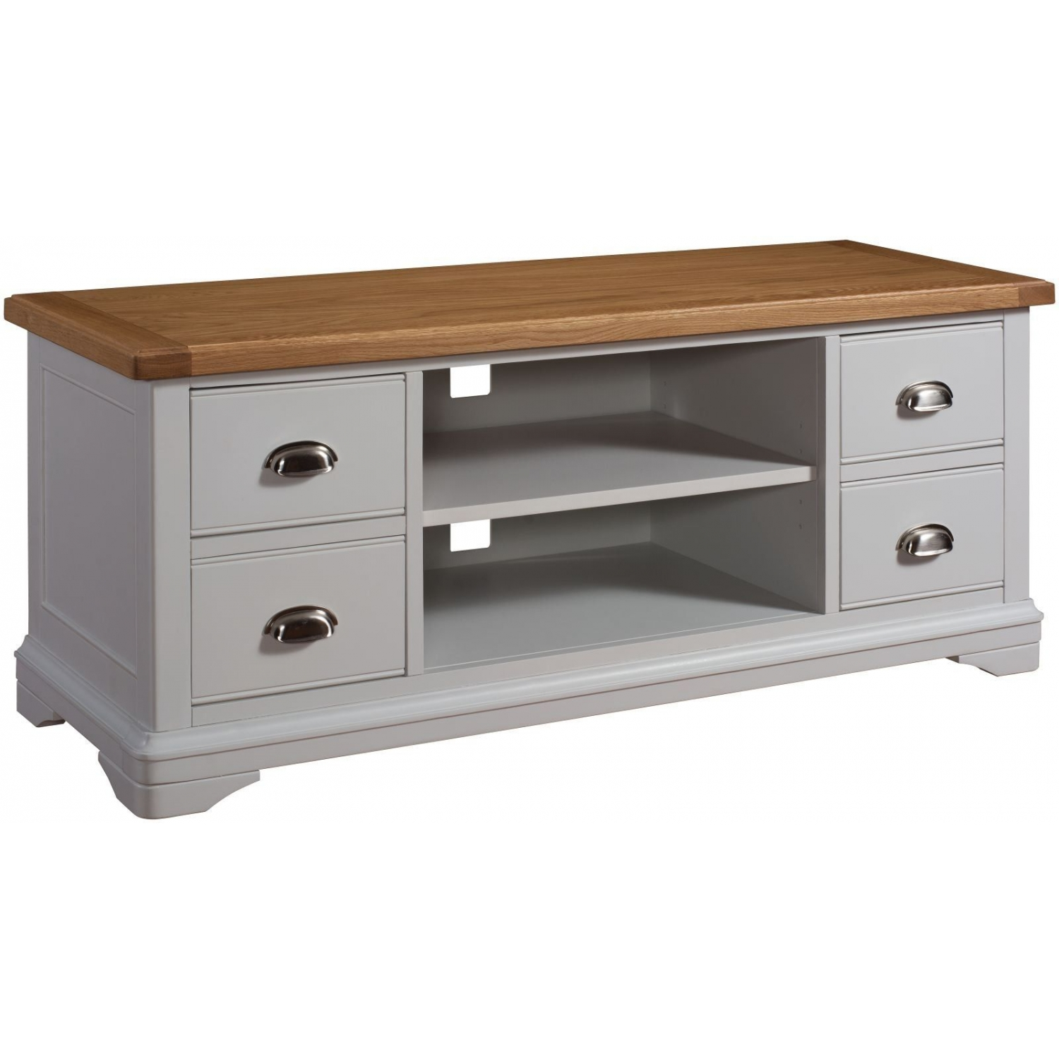 Dillon oak grey painted furniture living room television cabinet stand unit ebay Paint wood furniture