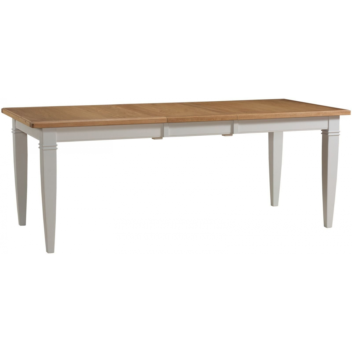 Dillon Oak Grey Painted Furniture Large Extending Dining Table
