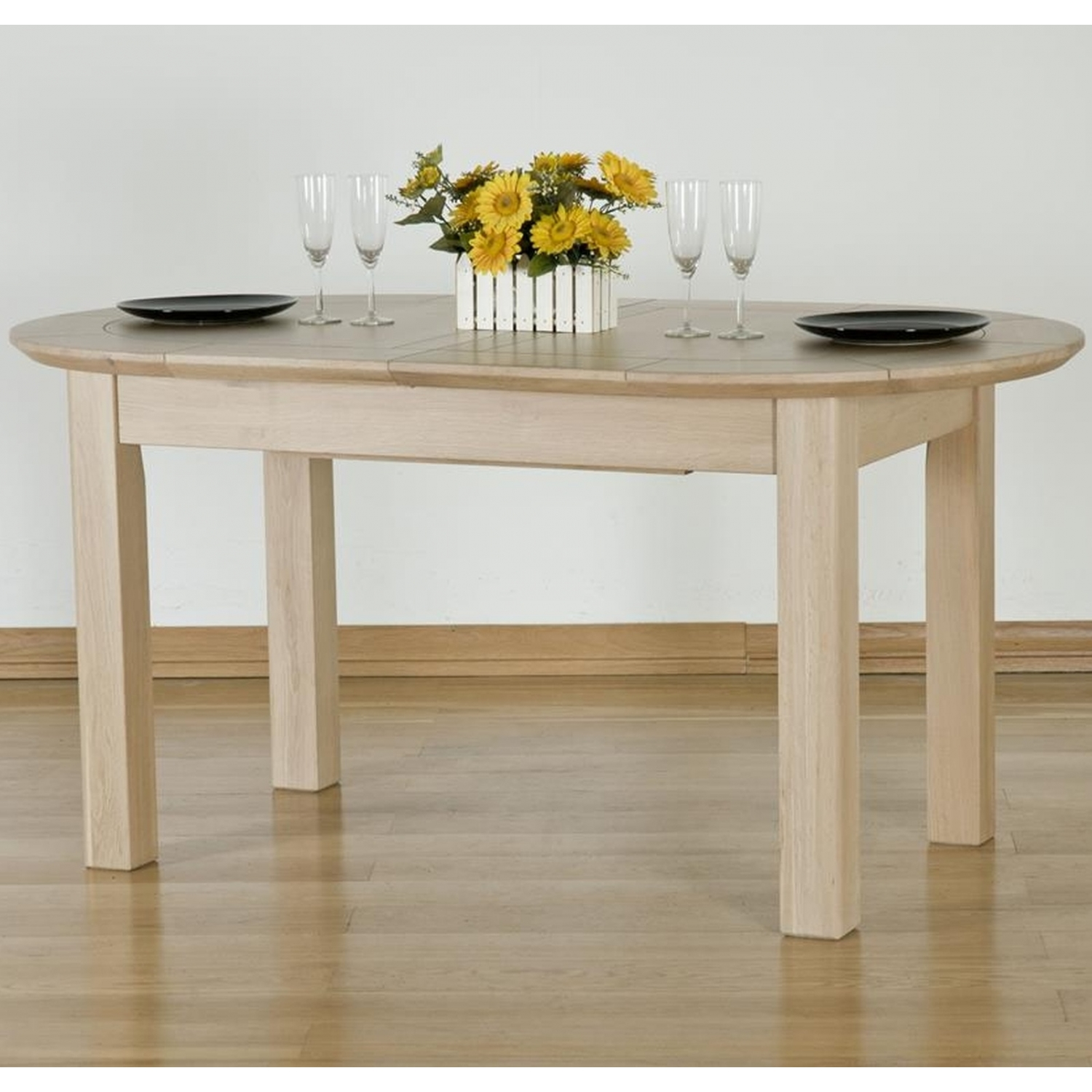 solid oak dining room furniture large extending dining table ebay