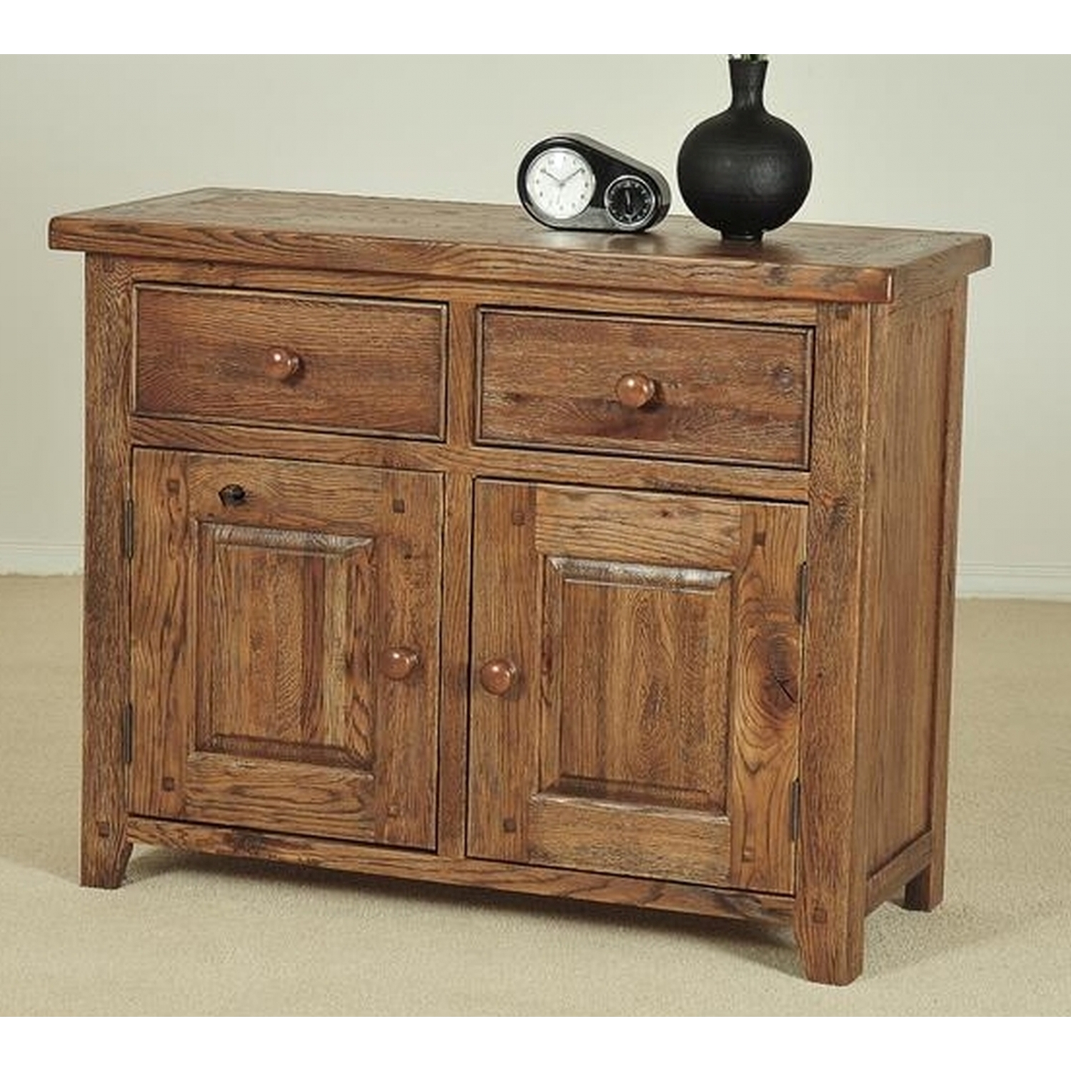 durham solid oak living dining room furniture small sideboard ebay