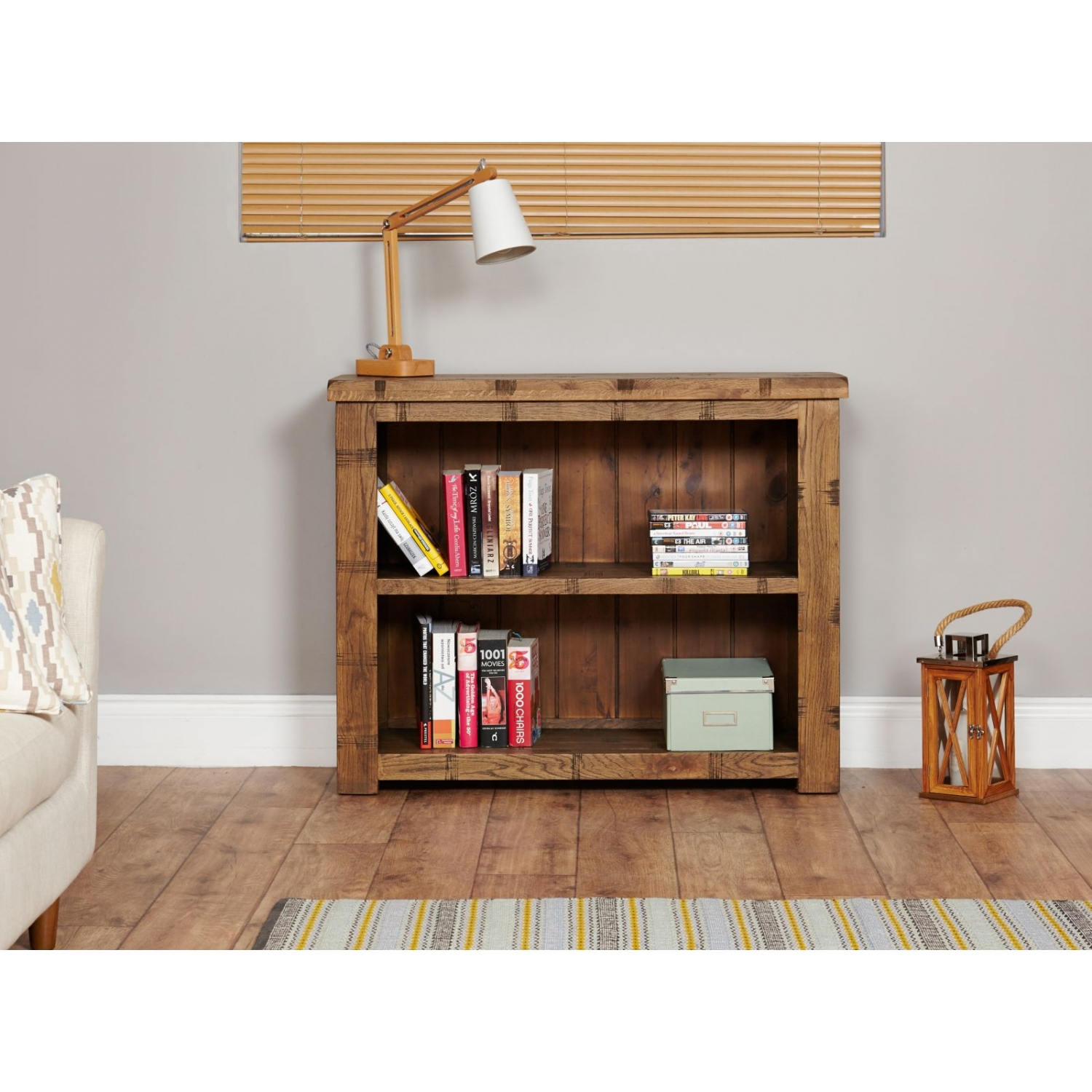 Clements rough sawn solid oak furniture low living room for Low living room furniture