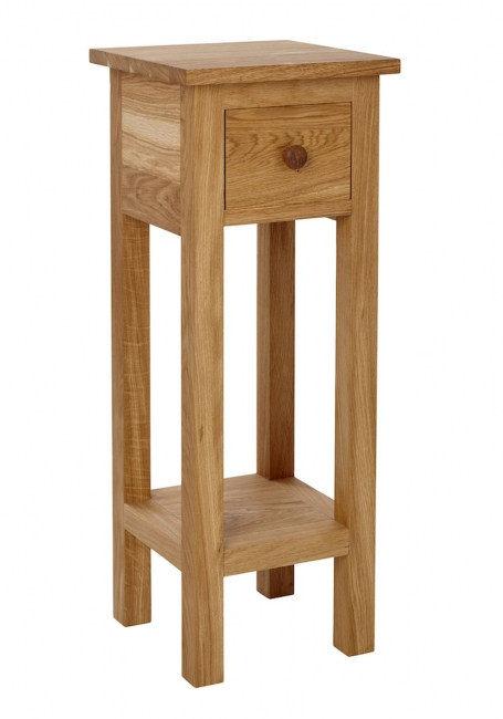 Torino Oak Furniture Small Telephone Side Lamp Table