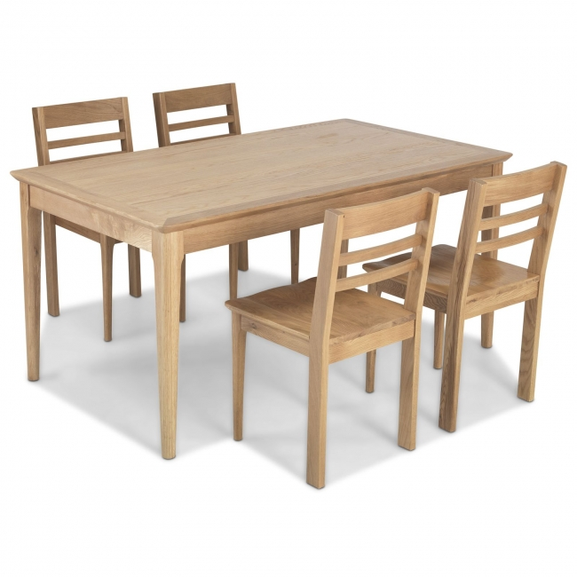 Details About Sanford Solid Oak Dining Room Furniture Dining Table